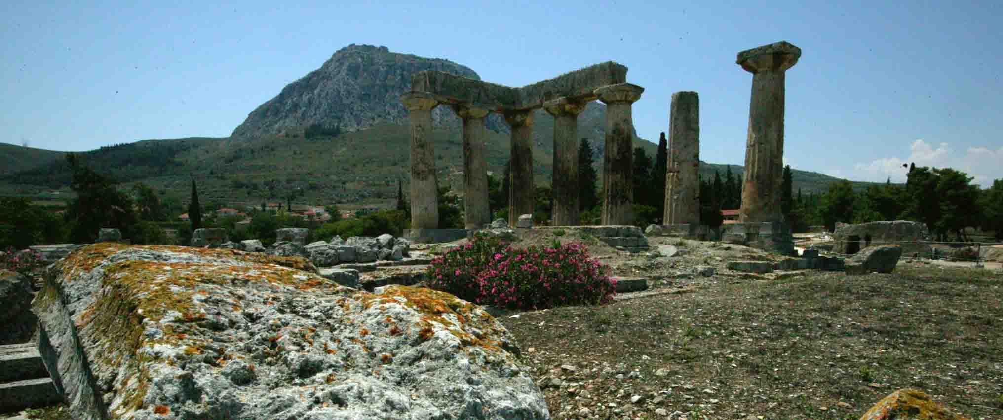Acrocorinth, Corinth, mod Archaia Korinthos, GREECE ...